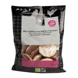 Urtekram Mini Riskager m. Mælkechokolade Ø (60 gr)