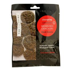 Rice Cracker Black Sesame Ø (40 gr)