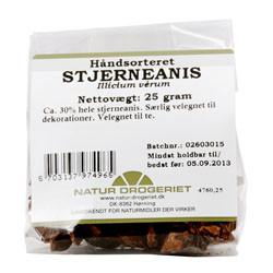 Natur Drogeriet Stjerneanis Håndsort. Ca 30% Hele (25 gr)