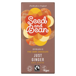 Seed&Bean Chokolade Mørk 58% Ginger Ø (85 gr)