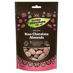 Mandler med rå chokolade Øko - 110 gram