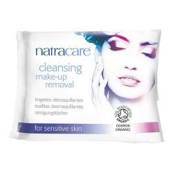 Natracare makeup fjerner vådservietter - 20 stk.