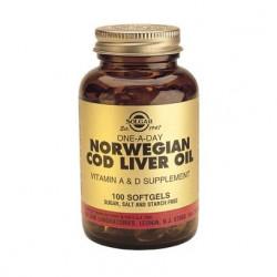 Solgar Norwegian Cod Liver - Torskelevertran (100 kapsler)