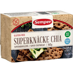 Knækbrød med chia fra Semper - 140 gram
