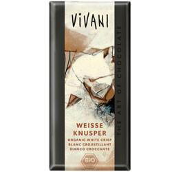 Vivani hvid chokolade m. crisp Ø 100 gr.