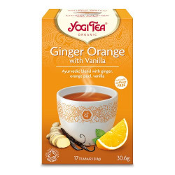 Yogi Tea Ginger orange vanilla Øko - 17 breve