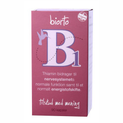 BiOrto Vitamin B1 30 mg (90 kapsler)