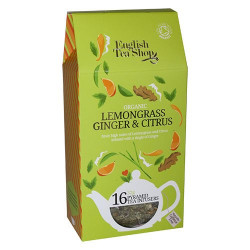 English Tea Shop Lemongrass, ginger, citrus tea Ø Silken pyramid infuser