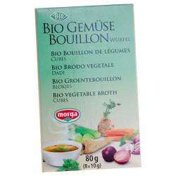 Morga grønsagsbouillon tern med salt Øko - 80 gram