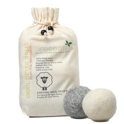 Cocoon Uld tørrebolde (6 stk)