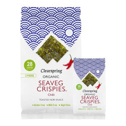 Seaveg Crispies Tangchips Chili Øko - 3x4 gram