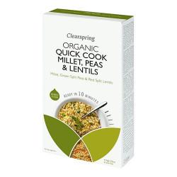 Quick Cook Hirse Ærter Røde linser Øko - 250 gram