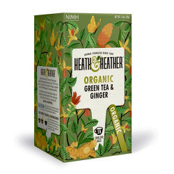 Heath & Heather Organic Green Tea & Ginger (20 breve)