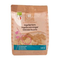 Ingefærtern kandiseret fra Urtekram Ø - 155 gram