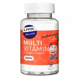 Livol Multi Total Børn - Jordbær (150 tyggetabs)