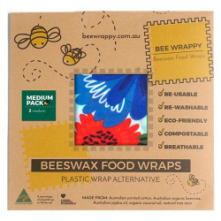 Be Wrappy Beeswax Food Wraps (2 x Medium)