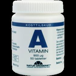 Natur Drogeriet A-vitamin (50 tabletter)