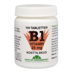 Natur Drogeriet Mega B1 Vitamin 25 Mg (100 tab)