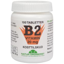 Natur Drogeriet Mega B2 Vitamin 20 Mg (100 tab)