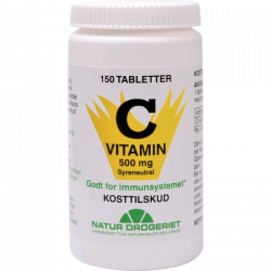 Natur Drogeriet Mega C Syreneutral 500 mg (150 tabletter)