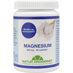 Natur Drogeriet Mega Magnesium 200 mg (90 kapsler)