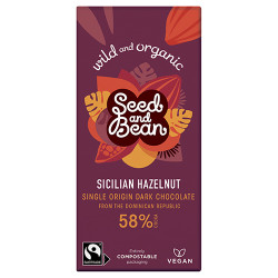 Naturesource Mørk Chokolade 58% Hasselnød Ø (85 gr)