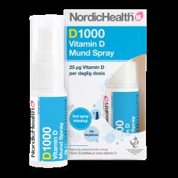 NordicHealth DLUX 1000 D3-vitaminspray (15 ml)