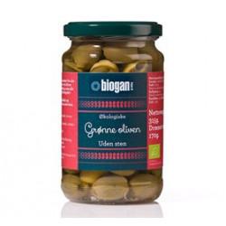 Biogan Oliven Grønne U. Sten Ø (340 gr)