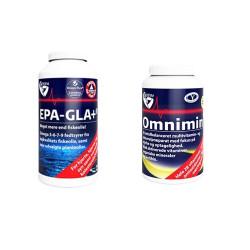 1 x Biosym Omnimin Pure (360 tabletter) + 1 x Biosym EPA-GLA+ (240 kapsler)