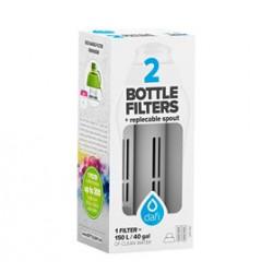 Dafi filter til filterflaske grå 2stk + mundstykke