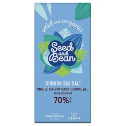 Chokolade Mørk 70% Cornish Sea Salt Ø (85 gr)