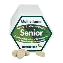 Berthelsen Seniorpillen 65+ Mutivitamin (60 tabletter)