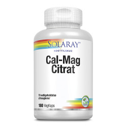 Solaray Cal-Mag Citrat 1:1 (180 kapsler)