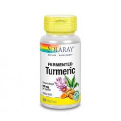 Solaray Fermenteret Turmeric (100 kapsler)