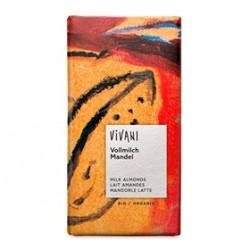 Vivani chokolade m. hele mandler Ø 100 gr.