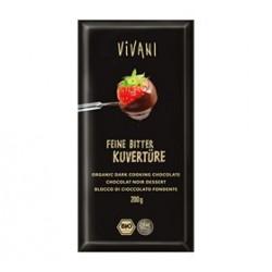 Vivani Mørk Chokolade Overtræk Ø (200 g)