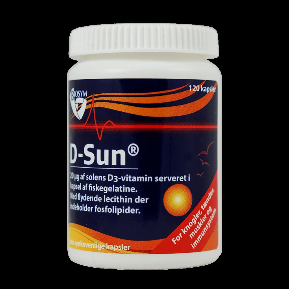 Image of Biosym D-Sun (120 kapsler)