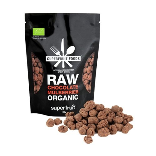Mulberries Raw Chocolate Økologiske - 100 gram