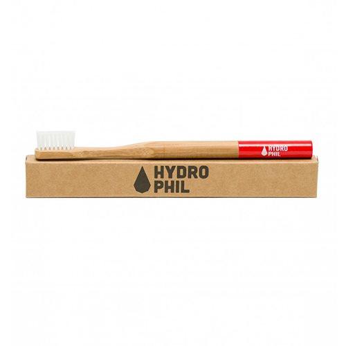 Tandbørste bambus rød fra Hydrophil - 1 stk.