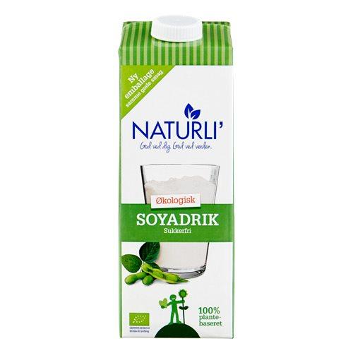 Image of   Sojadrik sukkerfri Naturli Økologisk - 1 liter