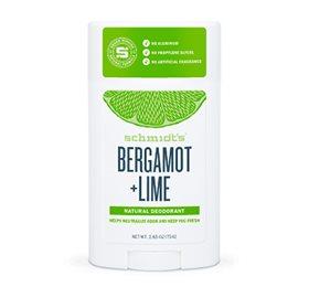 Image of   Schmidts Deodorant stick Bergamot & Lime - 75 gr