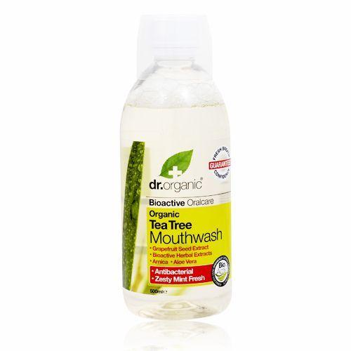 Dr. Organic Tea Tree Mundskyl - 500 ml.
