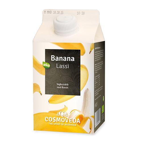 Image of Lassi yoghurtdrik banan Økologisk - 500 ml.