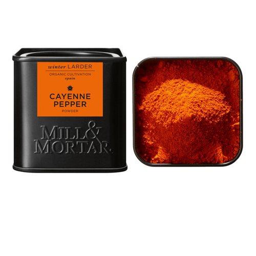 Image of   Cayennepeber stødt fra Mill & Mortar Øko - 45 gram