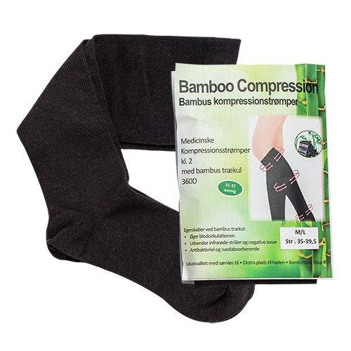 Image of Bamboo Pro kompressionsstrømper kl. 2 Str. M/L