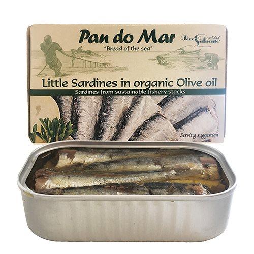 Billede af Biogan Små sardiner i olivenolie Ø (120 g)