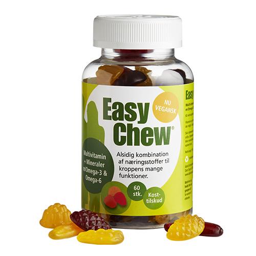 Image of   EasyChew Multivitamin med omega 3 - 60 stk
