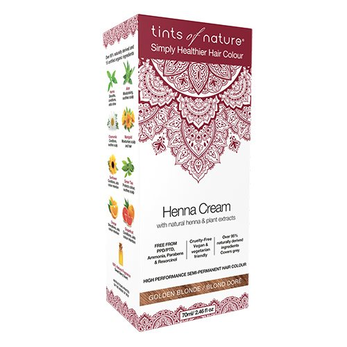 Image of   Tints of Nature Hårfarve Henna Creme Golden Blonde