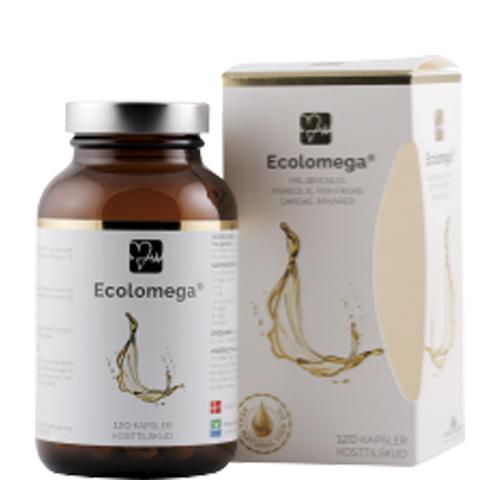 Image of   Ecolomega fiskeolie - 120 kapsler
