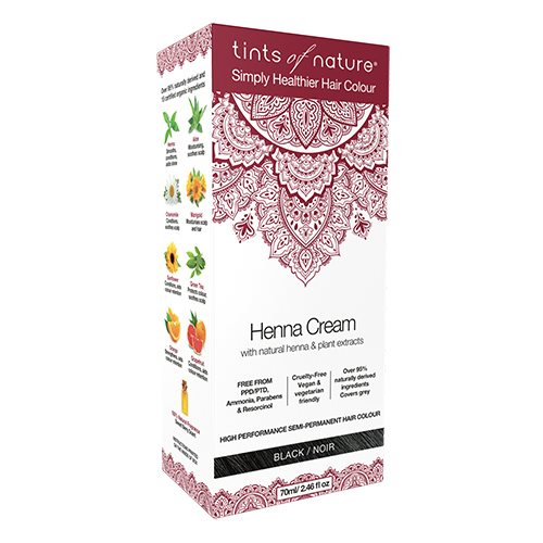 Image of   Tints of Nature Hårfarve Henna Creme Black